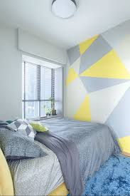 bedroom painting designs prozfilegeometricwall easy paint geometric pattern great diy idea