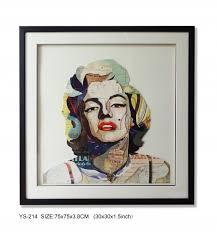 Marilyn Monroe Wall Decor Fashion Collage Framed Art Marilyn Monroe Size 30x30 Inches New