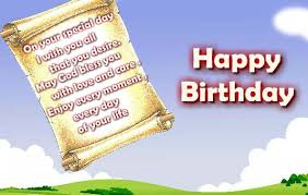 send a birthday letter on your loved ones birthday in the form of