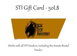 gift card vendors second marketplace sti gift card 50l