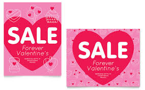 valentine u0027s day sale poster template design