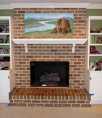 Fireplace Brick Stain by Faux Painted Brick Over White Fireplace Painting Brick