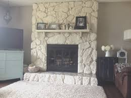 fireplace top light colored stone fireplace room ideas