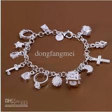 charm bracelet jewelry images Dssb 066 hotwomen 39 s 925 sterling silver bracelet 925 silver jpg
