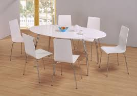 White Gloss Extendable Dining Table White Oval Dining Table