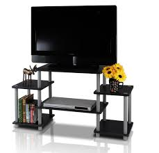 Computer Desk Tv Stand by Amazon Com Furinno 11257bk Gy Turn N Tube No Tools Entertainment