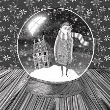 thanksgiving snow globe the boy in the snow globe drawing by andrew hitchen