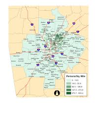 Metro Atlanta County Map by Limited English Proficiency Lep Plan Arc