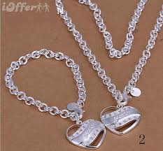 guess bracelet silver images 925 silver jewelry guess heart necklace bracelet sets for sale jpg