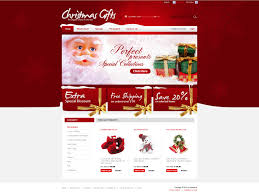 website template 26588 christmas gifts holiday custom website