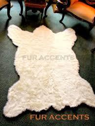 faux fur bear skin rug white new bear 5 u0027x6 u0027 by fur accents