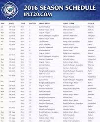 2016 ipl match list uddipan rodriguez on twitter vivo ipl 2016 match schedule b