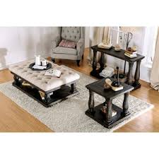 3 piece coffee table set althea transitional fabric 3 piece coffee table set by alcott hill
