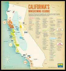 West Coast Usa Map by Tomorrow Partners Wine Institute Of California