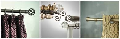 Window Treatment Hardware Medallions - custom drapery hardware and curtain rods can modernize your window