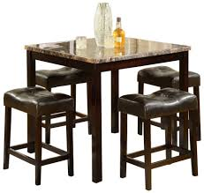 gray polished metal dining fascinating tall dining room tables
