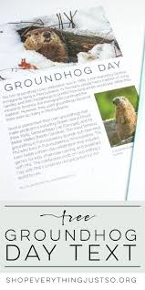238 best activities for groundhog day images on pinterest