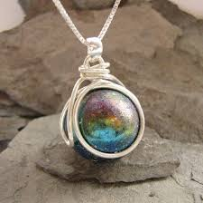 marble necklace the pop in interchangeable nebula marble necklace jewelry gift