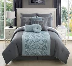 Ideas Aqua Bedding Sets Design Bedroom Small Table L Design With Grey Comforter Also Wooden