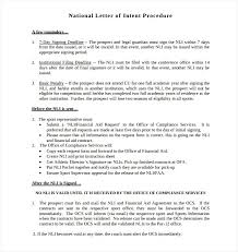College National Letter Of Intent 8 National Letter Of Intent Templates Free Sle Exle Amazing