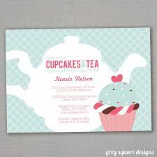 kitchen tea invitation ideas cupcakes tea baby shower invitation