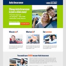 killer auto insurance converting responsive lead capture landing