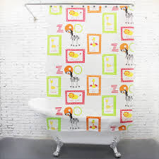 Childrens Shower Curtains by Curtains Thick Peva Cartoon Zebra Zoo Kids Shower Curtains