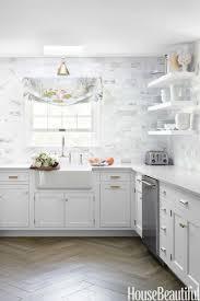 kitchen backsplash stunning white marble subway tile backsplash