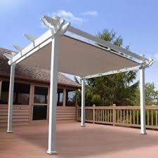 canvas pergola shadetree canvas pergolas regarding shade cover