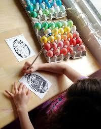 styrofoam easter eggs styrofoam printmaking with kids for everyday or cards