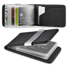 Business Card Case Leather Zodaca Genuine 100 Percent Leather Money Clip Wallet With Extra