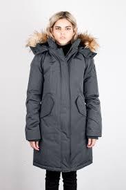 vanessa winter jacket in grey toboggan canada