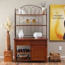Wooden Bakers Rack Bakers Rack With Drawers Decorating Ideas Marvelous Furniture For