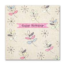 hand finished leaves birthday card karenza paperie