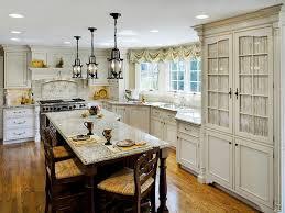 modern french country kitchen decor black barstools wood log