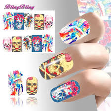 popular skull nail wraps buy cheap skull nail wraps lots from