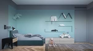minimalist kids study room bed ladder alcove stashing toys