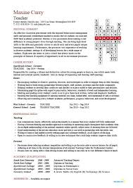 Example Of Cover Letter For A Resume by Teaching Cv Template Job Description Teachers At Cv