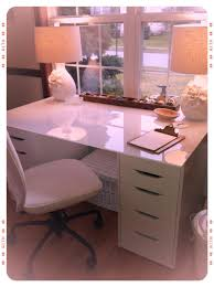 Kitchen Table Ikea by Ikea Alex Drawer Units Paired With An Ikea Glass Kitchen Table Top