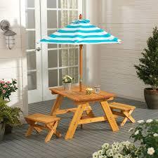 Patio Set With Umbrella Patio Furniture With Umbrella Outdoor 4 Picnic Table
