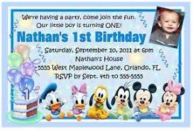 mickey mouse disney babies 1st birthday invitations ebay