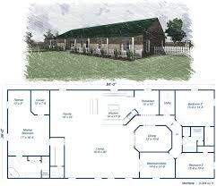 Metal Building Floor Plans With Living Quarters 28 Metal House Plans Residential Steel House Plans