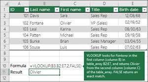 vlookup function office support