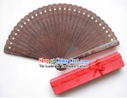 sandalwood fan handmade peacock and sandalwood fan
