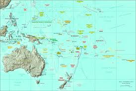 Caribbean Countries Map by Oceania Physical Map Oceania Country Map Oceania Map With