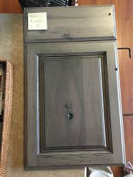 hickory grey stained kitchen cabinets starmark rustic hickory accord panel driftwood finish