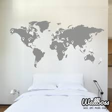 Etsy World Map by World Map With Countries Borders Wall Decal By Zapoart On Etsy