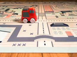 cars play mat rug for kids cars and roads play game pretend