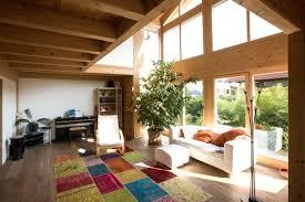 Wohnzimmer Rustikal Modern Blockhaus Chiemgau In Der Zeitschrift