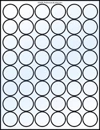 glossy clear printable sticker labels 50 sheets 1 25 inch round 4292c
